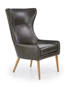 Fotel FAVARO - skóra ciemny zielony