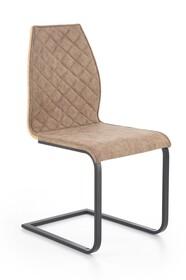Krzesło K265 - brązowy/dąb złoty
