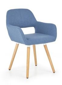 Wymiary:  - wysokość: 80 cm - szerokość: 56 cm - głębokość: 56 cm  Materiał:  - tkanina - drewno lite  Kolor:  - niebieski  Cena obejmuje...