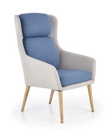 Fotel PURIO - jasny popiel/niebieski