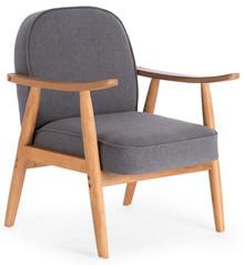 RETRO fotel wypoczynkowy popielaty