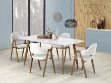 Stół rozkładany RUTEN 160x90 - biały