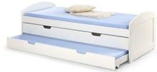 Delikatność i funkcjonalność!  Dwuosobowe łóżko Laguna będzie idealnym rozwiązaniem do małego pokoju dziecięcego lub też młodzieżowego. Ten...