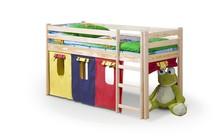 Łóżko piętrowe ze zjeżdżalnią i materacem NEO PLUS - sosna