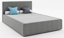 Łóżko z podnośnikiem i pojemnikiem SOFT 120 z kolekcji MIO  Tapicerowane łóżko MIO z francuskim szwem idealnie wpisuje się obecne trendy wzornicze....