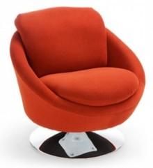 Fotel Universalz obrotową nogą.  Wygodny fotel obrotowy wykonany na piance wysokoelastycznej. Podstawa chromowana.  WYMIARY : szerokość -...