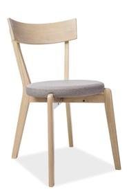 Krzesło NELSON - dąb miodowy/szary