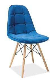 Krzesło AXEL III aksamit - granatowy