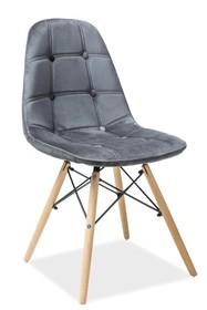 Krzesło AXEL III aksamit - szary