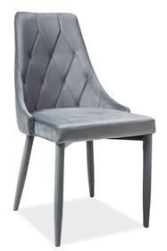 Krzesło TRIX VELVET - szary Bluvel 14