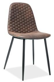 Krzesło TEO D - brązowy/czarny