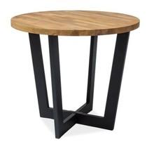 Stół CONO 90 - dąb naturalny/czarny