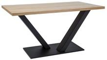 Stół Vector to intrygujący stół o bardzo ciekawym kształcie stelaża. Zadowoli wszystkich, którzy szukają stołu w stylu industrialnym i jednocześnie...