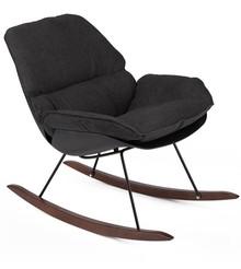 Fotel bujany NINO - czarny
