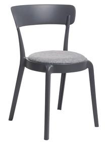 Krzesło FLUFFI - grafitowy