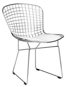 Krzesło NET SOFT - chrom/biały
