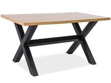 Stół w stylu loft XAVIERO 150x90 lity dąb