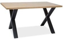 Stół w stylu loft XAVIERO II 180x90 lity dąb
