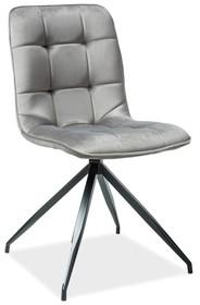 Krzesło TEXO velvet - szary