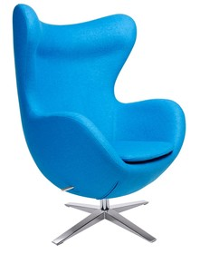 Fotel EGG SZEROKI - niebieski