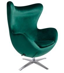 Fotel EGG SZEROKI VELVET - ciemny zielony