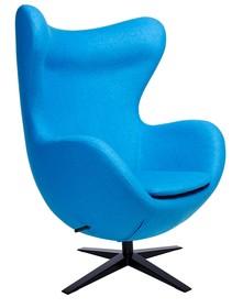 Fotel EGG SZEROKI BLACK - niebieski