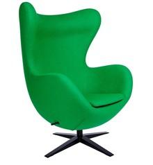 Fotel EGG SZEROKI BLACK - zielony