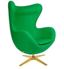 Fotel EGG SZEROKI GOLD - zielony