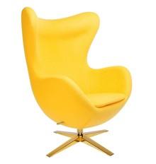 Fotel EGG SZEROKI GOLD - żółty