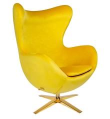 Fotel EGG SZEROKI VELVET GOLD - żółty