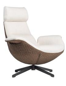 Fotel POSTURA szaro-brązowy