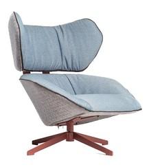 Fotel SLOW niebiesko-szary