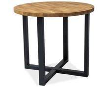 Stół Rolf to solidny, okrągły stół z nietuzinkowym stelażem. To idealne rozwiązanie dla zwolenników stylu industrialnego. Blat wykonany jest z litego...