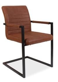 Krzesło SOLID - brązowy