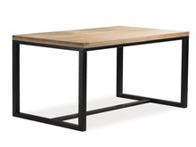 Stół LORAS A 150x90 - lity dąb/czarny
