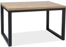 Stół LORAS II 120x80 - lity dąb/czarny