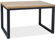Stół LORAS II 150x90 - okleina naturalna/czarny