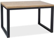 Stół LORAS II 150x90 - lity dąb/czarny