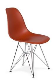 Krzesło DSR SILVER - ceglasty