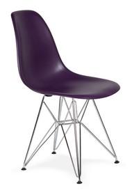 Krzesło DSR SILVER - fioletowa purpura