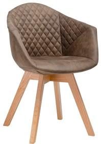 Fotel FRANKY - brązowy