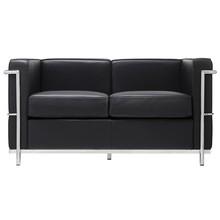 Sofa 2-osobowa SOFT LC2 - czarny