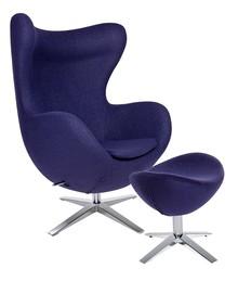 Zestaw Fotel EGG SZEROKI z podnóżkiem.<br />Fotel kształtem nawiązuje do jednego z najbardziej znanych projektów.<br />Wyposażony...