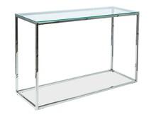Konsolka HILTON C - transparentny/chrom