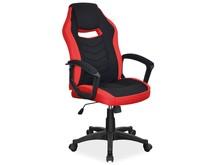 Fotel obrotowy CAMARO - czarny/czerwony
