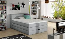 Łóżko AQUA 140 x 200 z dodatkowym pojemnikiem w wezgłowiu  Łóżka z serii Box Springs to produkty wysokiej jakości, gwarantujące najwyższą...