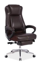 Fotel biurowy PRESIDENT - brązowy