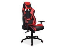 Fotel obrotowy SUPRA - czarny/czerwony
