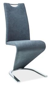 KRZESŁO H090 GRAFIT MATERIAŁ/CHROM  Niebanalne krzesło H-090 przypadnie do gustu nawet najbardziej wymagającym klientom poszukującym oryginalnych i...