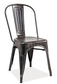Krzesło LOFT - czarny przecierany